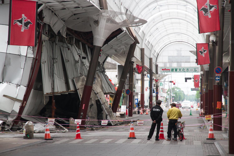 熊本地震(健軍商店街の様子)